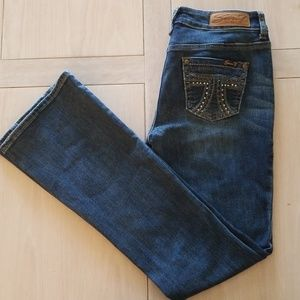 Seven7 Boot cut Jeans Size 4 Embellished